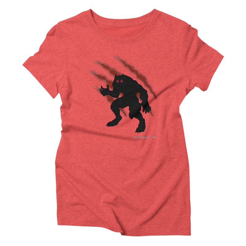 Once Marked By the Beast Women's Triblend T-Shirt by AntonAbela-Art's Artist Shop