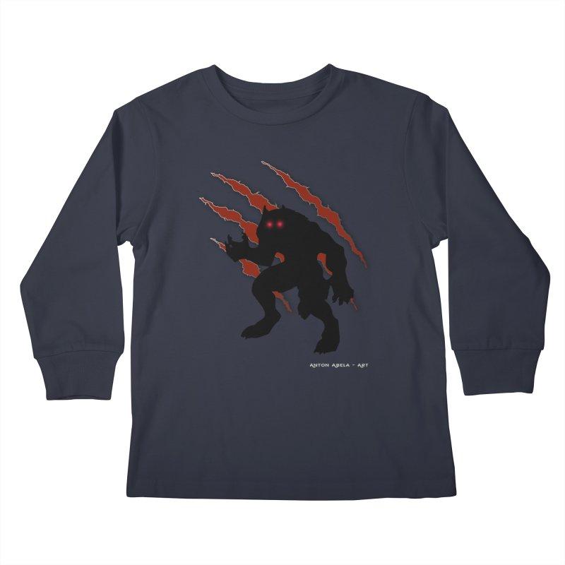 Once Marked By the Beast Kids Longsleeve T-Shirt by AntonAbela-Art's Artist Shop