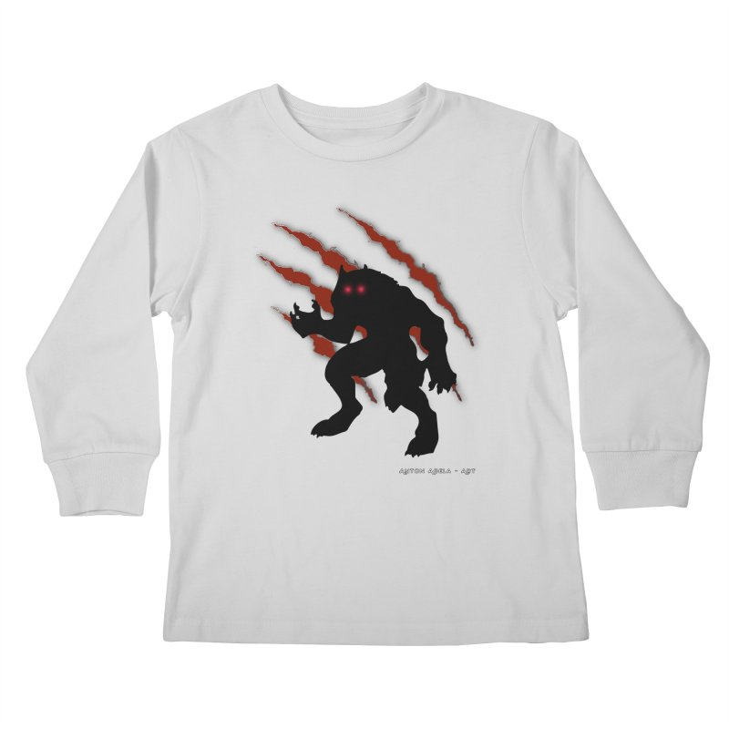 Once Marked By the Beast Kids Longsleeve T-Shirt by AntonAbela-Art's Artist Shop