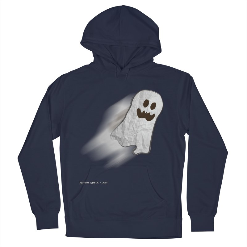 Candy Ghost Men's French Terry Pullover Hoody by AntonAbela-Art's Artist Shop