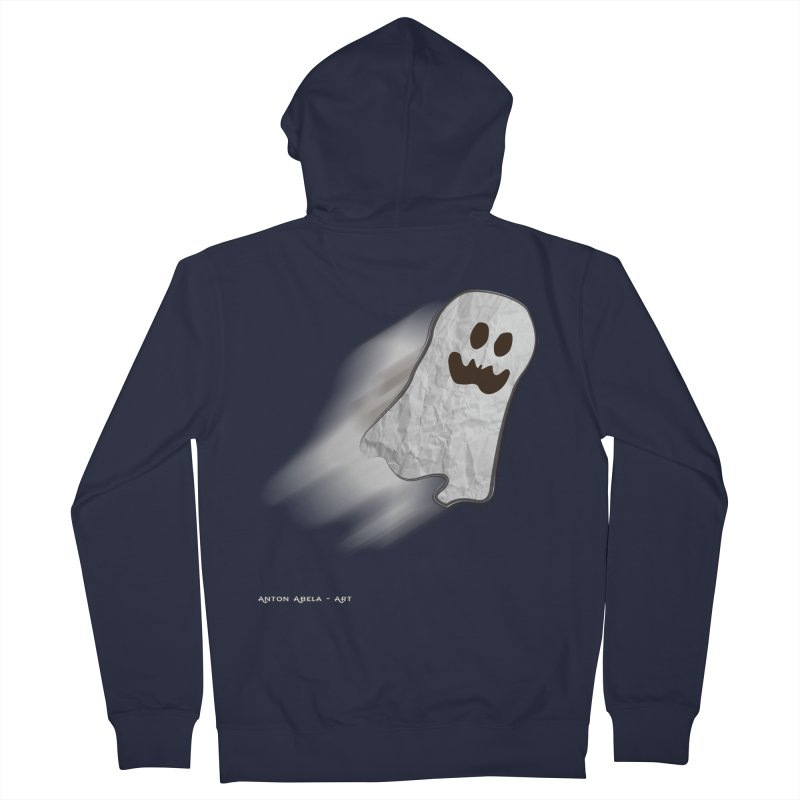 Candy Ghost Women's French Terry Zip-Up Hoody by AntonAbela-Art's Artist Shop