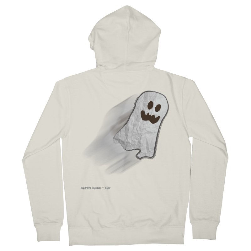 Candy Ghost Men's French Terry Zip-Up Hoody by AntonAbela-Art's Artist Shop