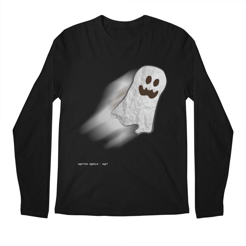 Candy Ghost Men's Longsleeve T-Shirt by AntonAbela-Art's Artist Shop