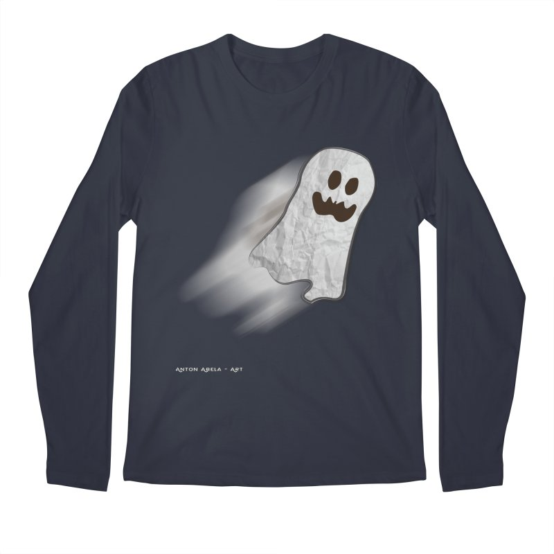 Candy Ghost in Men's Longsleeve T-Shirt Midnight by AntonAbela-Art's Artist Shop