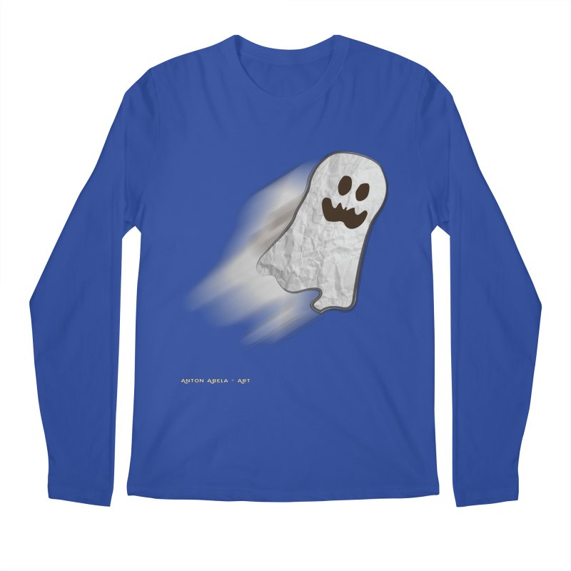 Candy Ghost Men's Regular Longsleeve T-Shirt by AntonAbela-Art's Artist Shop