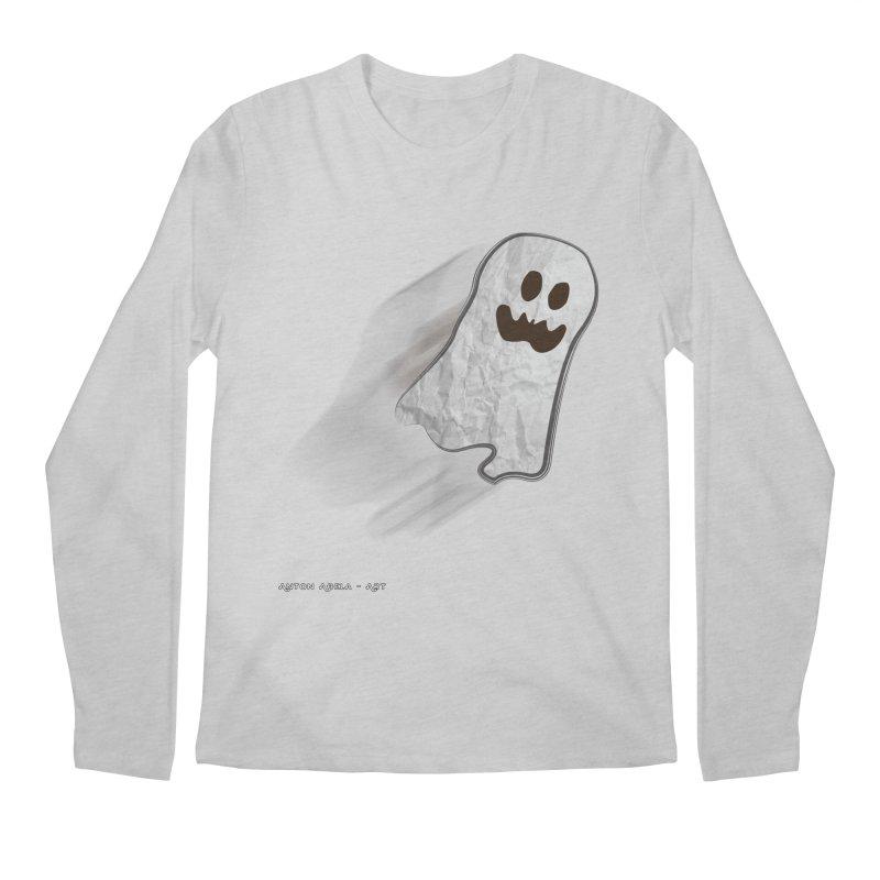 Candy Ghost Men's Regular Longsleeve T-Shirt by AntonAbela-Art's Artist Shop