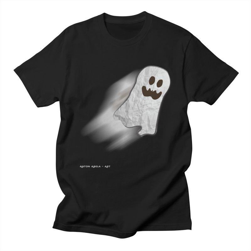 Candy Ghost Men's T-Shirt by AntonAbela-Art's Artist Shop