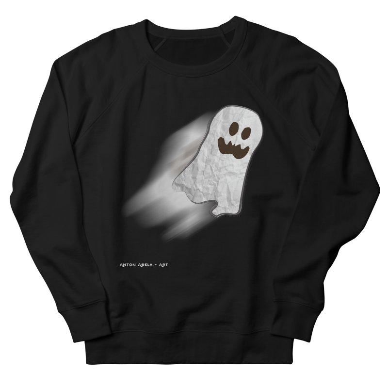 Candy Ghost Men's French Terry Sweatshirt by AntonAbela-Art's Artist Shop