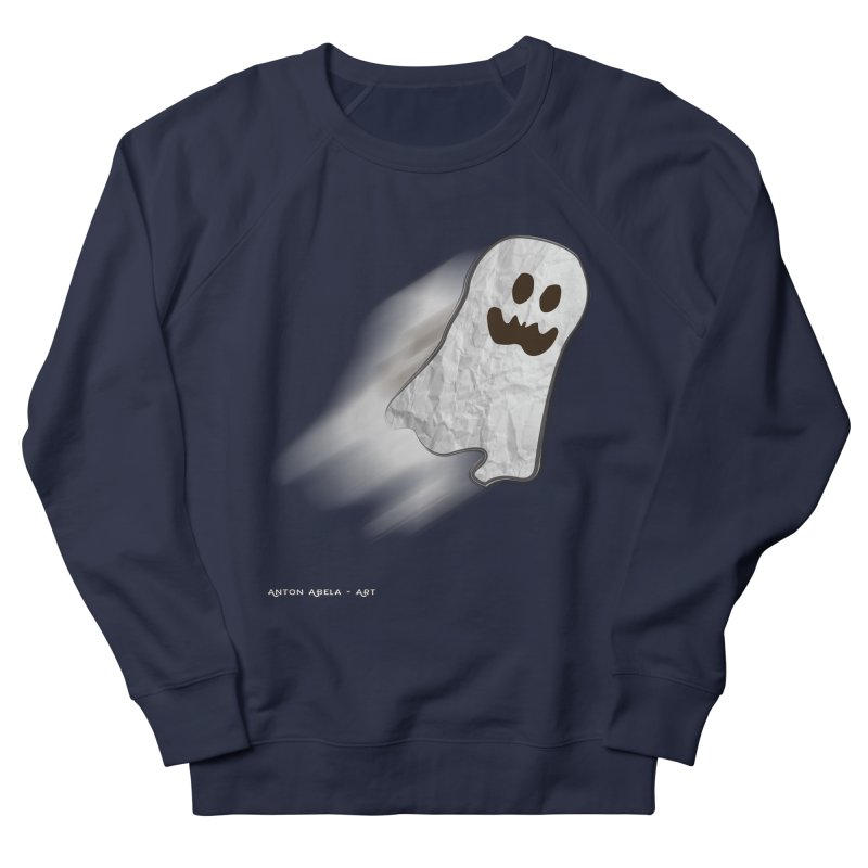Candy Ghost Men's French Terry Sweatshirt by AntonAbela-Art's Artist Shop