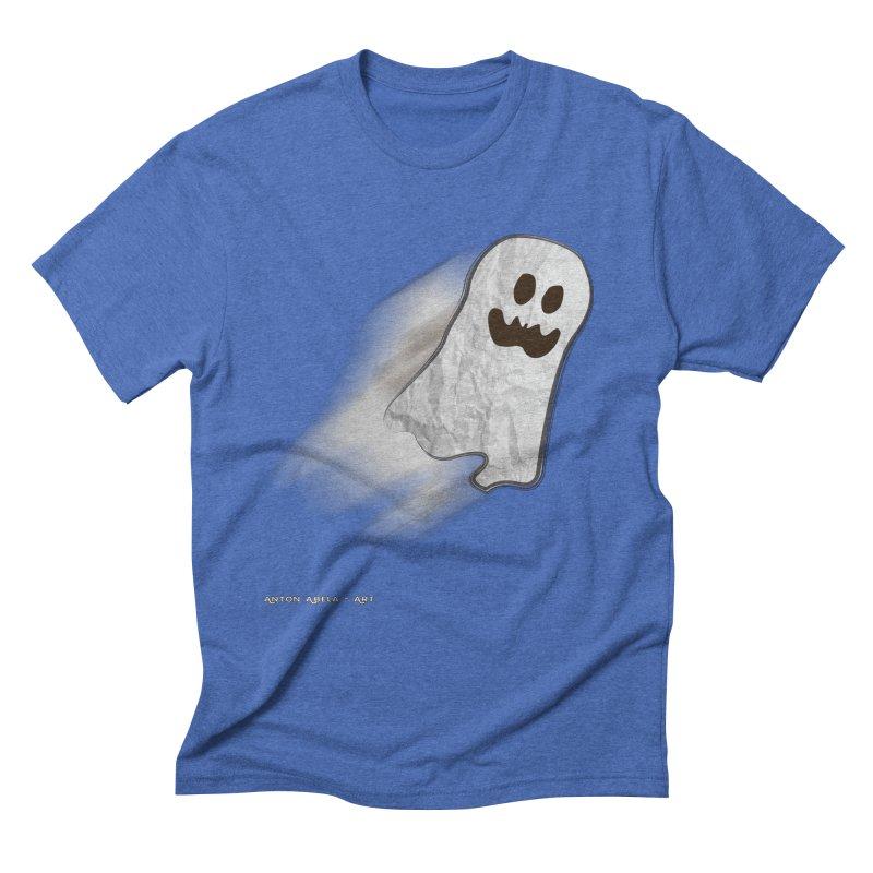 Candy Ghost Men's Triblend T-Shirt by AntonAbela-Art's Artist Shop