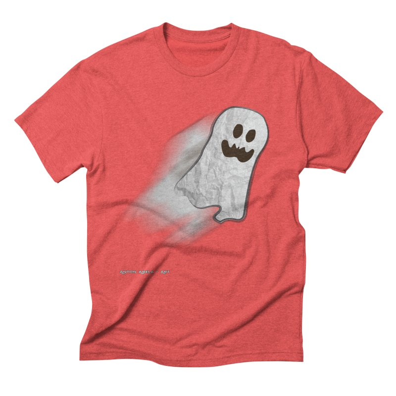 Candy Ghost Men's Triblend T-Shirt by AntonAbela-Art's Artist Shop