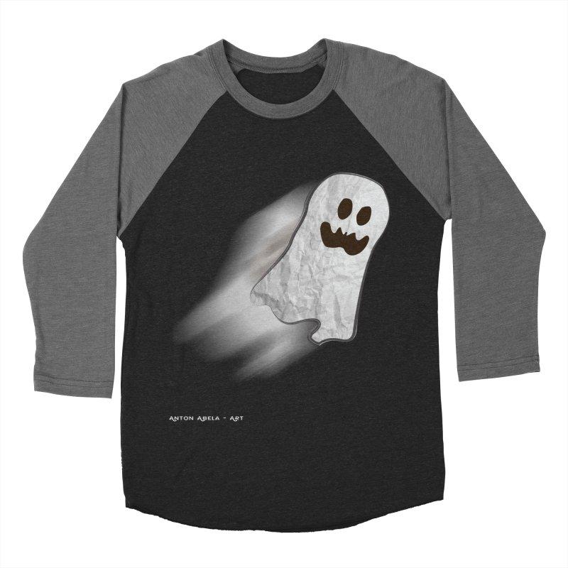 Candy Ghost Women's Baseball Triblend T-Shirt by AntonAbela-Art's Artist Shop