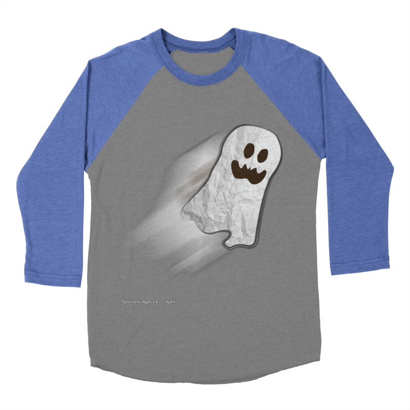 Candy Ghost Men's Baseball Triblend Longsleeve T-Shirt by AntonAbela-Art's Artist Shop