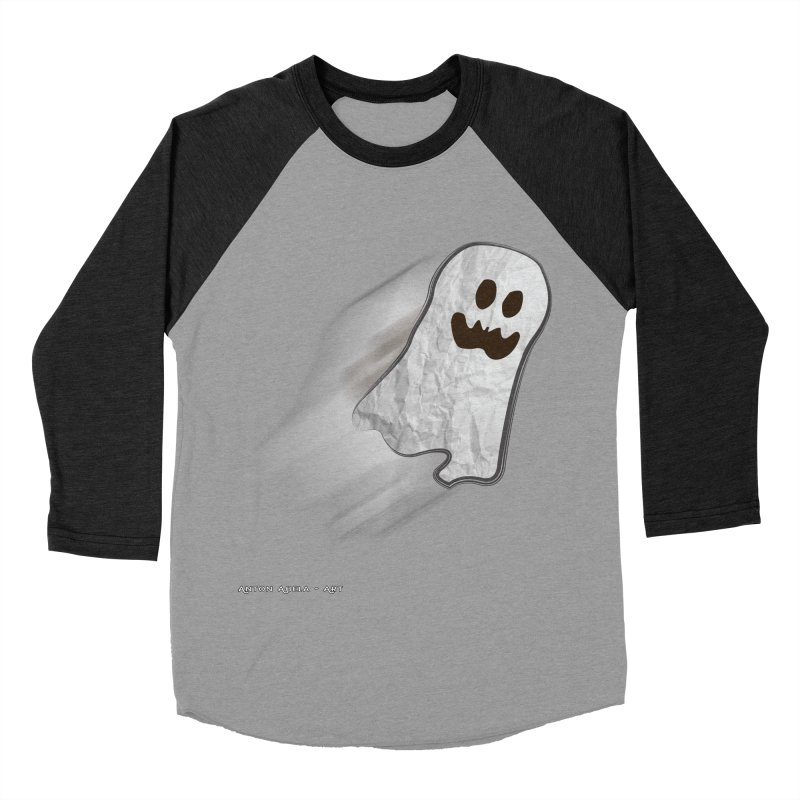 Candy Ghost Men's Baseball Triblend Longsleeve T-Shirt by AntonAbela-Art's Artist Shop