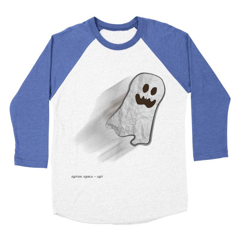 Candy Ghost Men's Baseball Triblend T-Shirt by AntonAbela-Art's Artist Shop