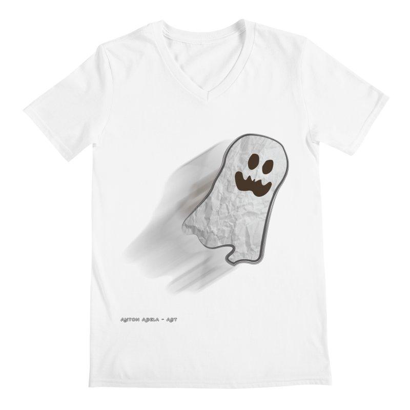 Candy Ghost Men's Regular V-Neck by AntonAbela-Art's Artist Shop