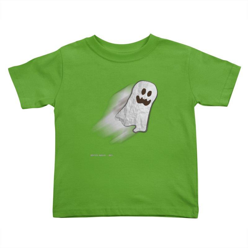 Candy Ghost Kids Toddler T-Shirt by AntonAbela-Art's Artist Shop