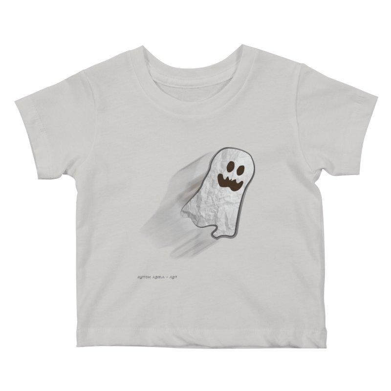 Candy Ghost Kids Baby T-Shirt by AntonAbela-Art's Artist Shop
