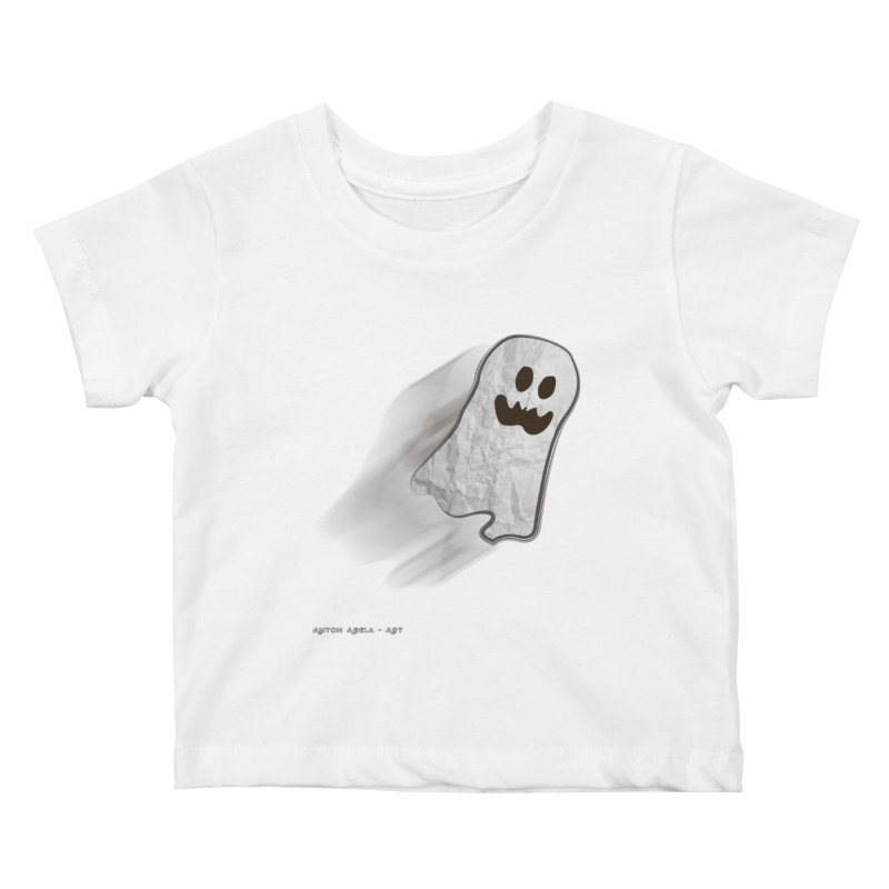 Candy Ghost Kids Baby T-Shirt by AntonAbela-Art's Artist Shop