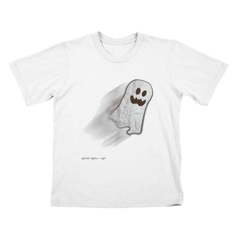 Candy Ghost Kids T-Shirt by AntonAbela-Art's Artist Shop