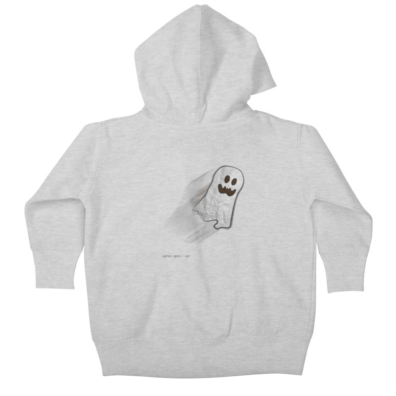 Candy Ghost Kids Baby Zip-Up Hoody by AntonAbela-Art's Artist Shop