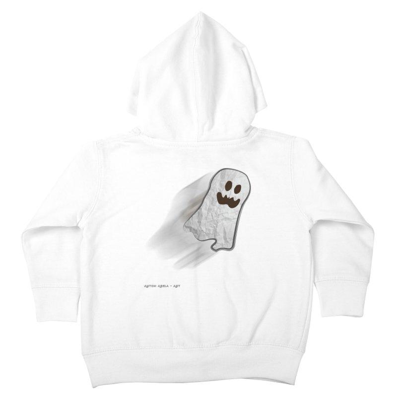 Candy Ghost Kids Toddler Zip-Up Hoody by AntonAbela-Art's Artist Shop