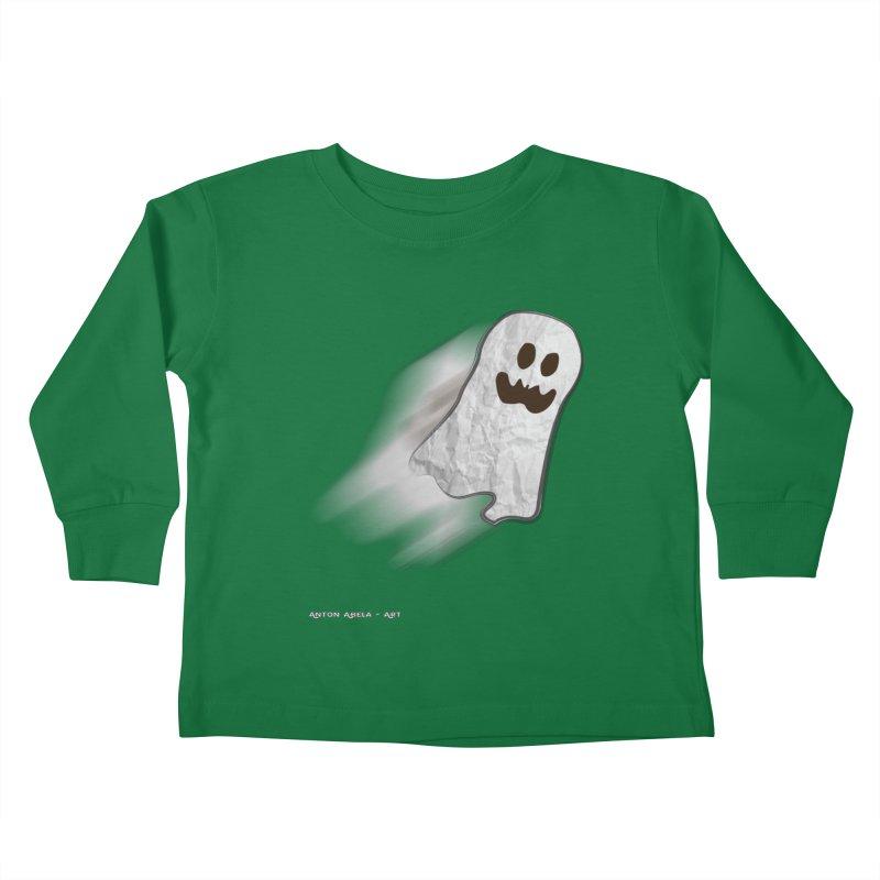 Candy Ghost Kids Toddler Longsleeve T-Shirt by AntonAbela-Art's Artist Shop