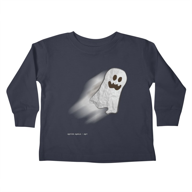 Candy Ghost Kids Toddler Longsleeve T-Shirt by AntonAbela-Art's Artist Shop