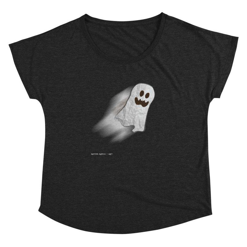 Candy Ghost Women's Dolman Scoop Neck by AntonAbela-Art's Artist Shop