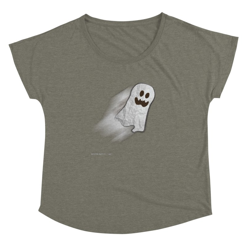 Candy Ghost Women's Dolman Scoop Neck by AntonAbela-Art's Artist Shop