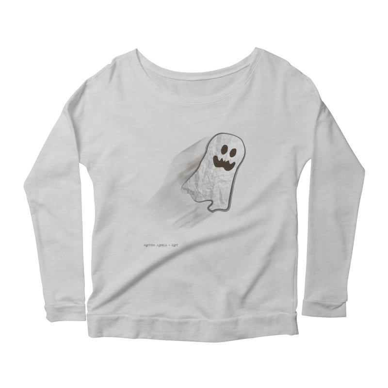 Candy Ghost Women's Scoop Neck Longsleeve T-Shirt by AntonAbela-Art's Artist Shop