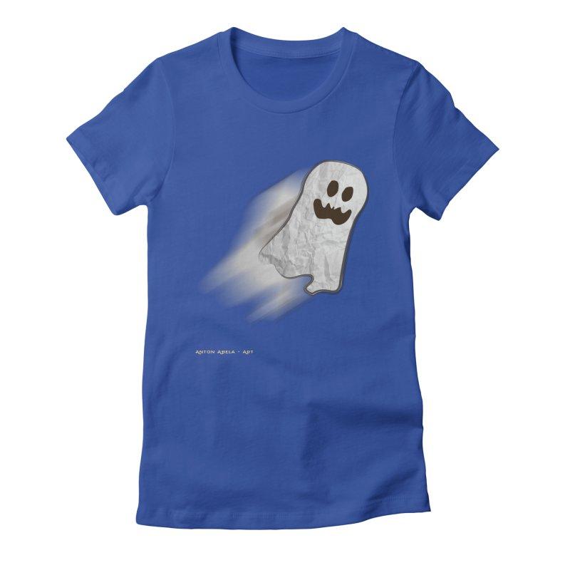 Candy Ghost Women's Fitted T-Shirt by AntonAbela-Art's Artist Shop