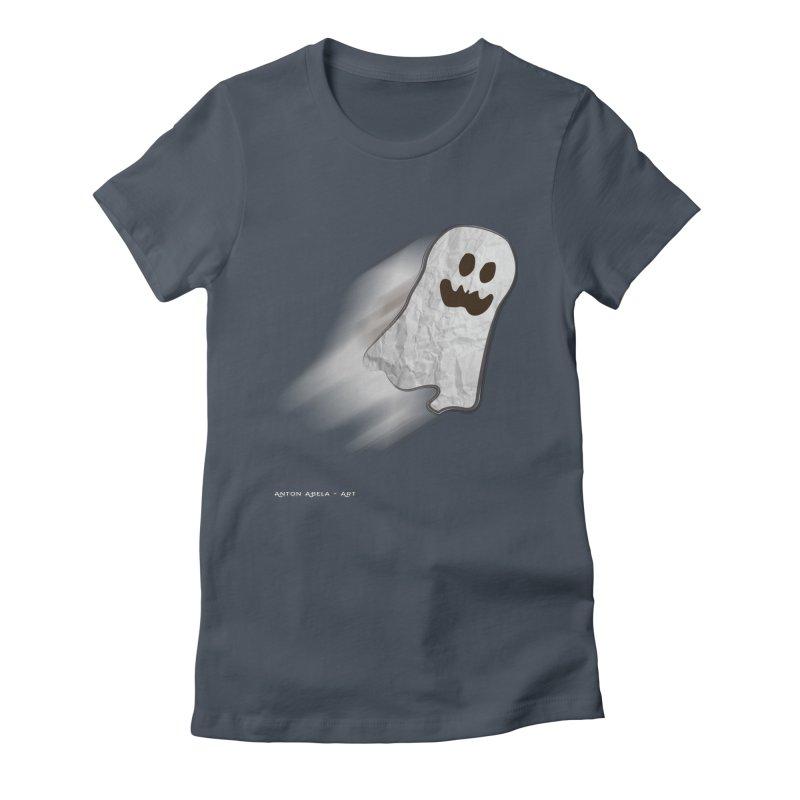Candy Ghost Women's T-Shirt by AntonAbela-Art's Artist Shop
