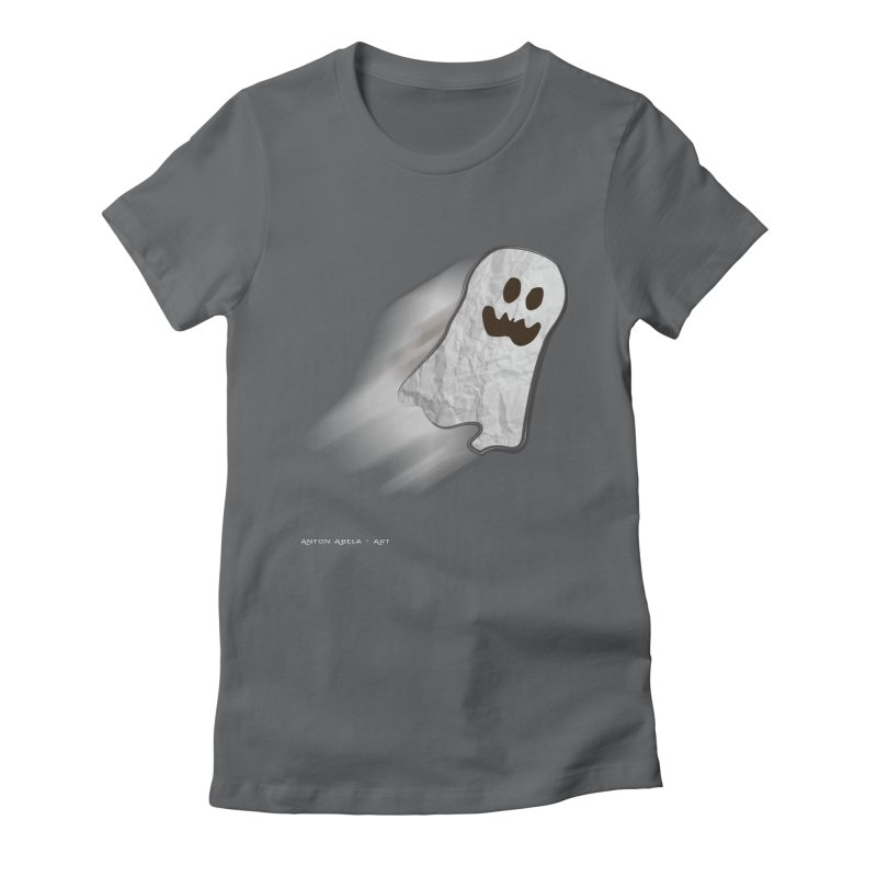 Candy Ghost Women's Fitted T-Shirt by AntonAbela-Art's Artist Shop