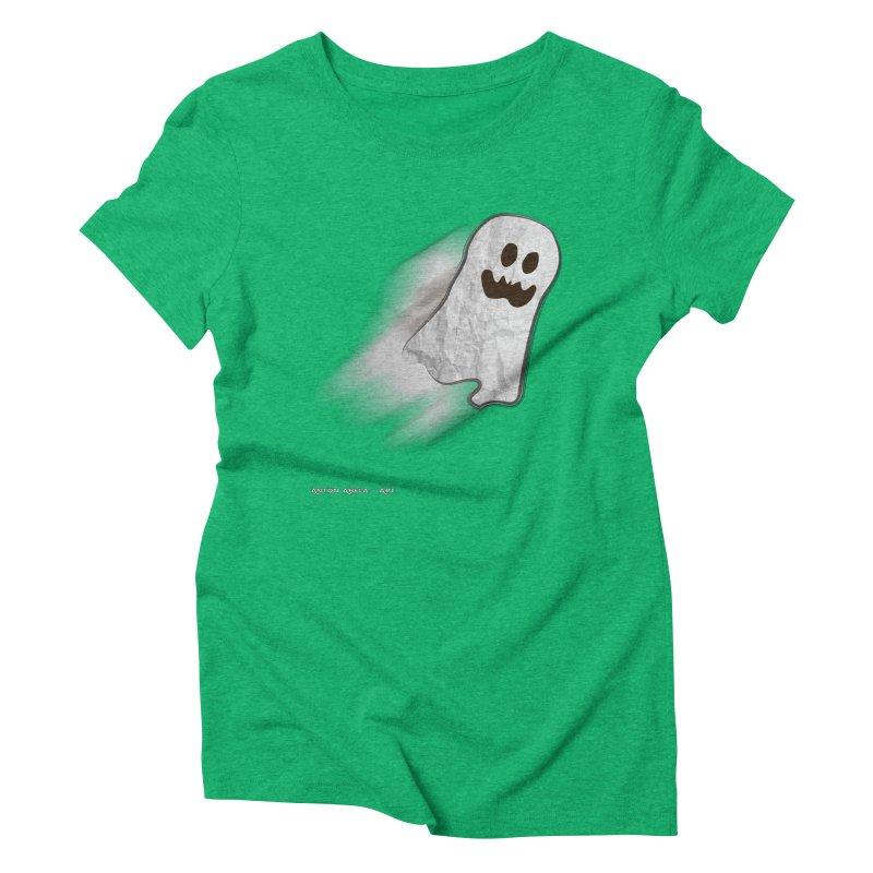 Candy Ghost Women's Triblend T-Shirt by AntonAbela-Art's Artist Shop