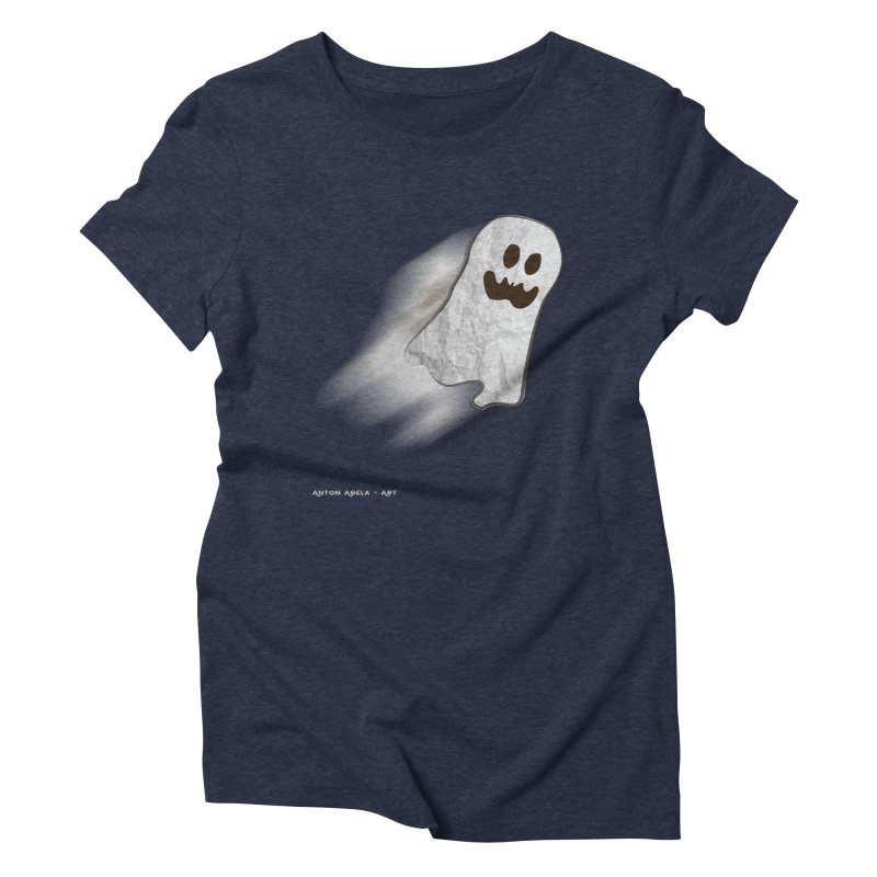 Candy Ghost Women's Triblend T-Shirt by AntonAbela-Art's Artist Shop