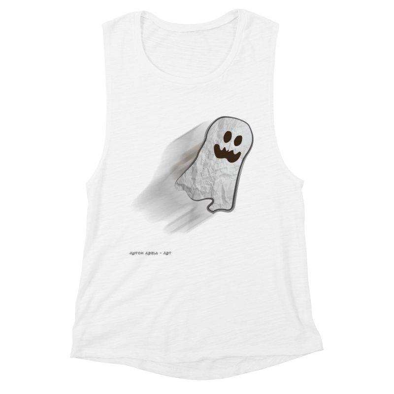 Candy Ghost Women's Muscle Tank by AntonAbela-Art's Artist Shop