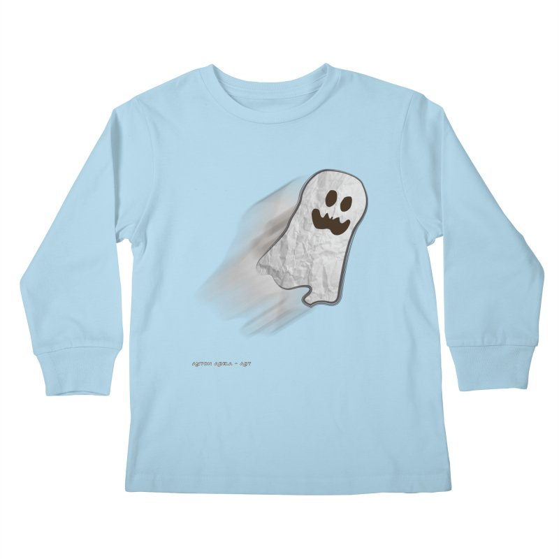 Candy Ghost Kids Longsleeve T-Shirt by AntonAbela-Art's Artist Shop