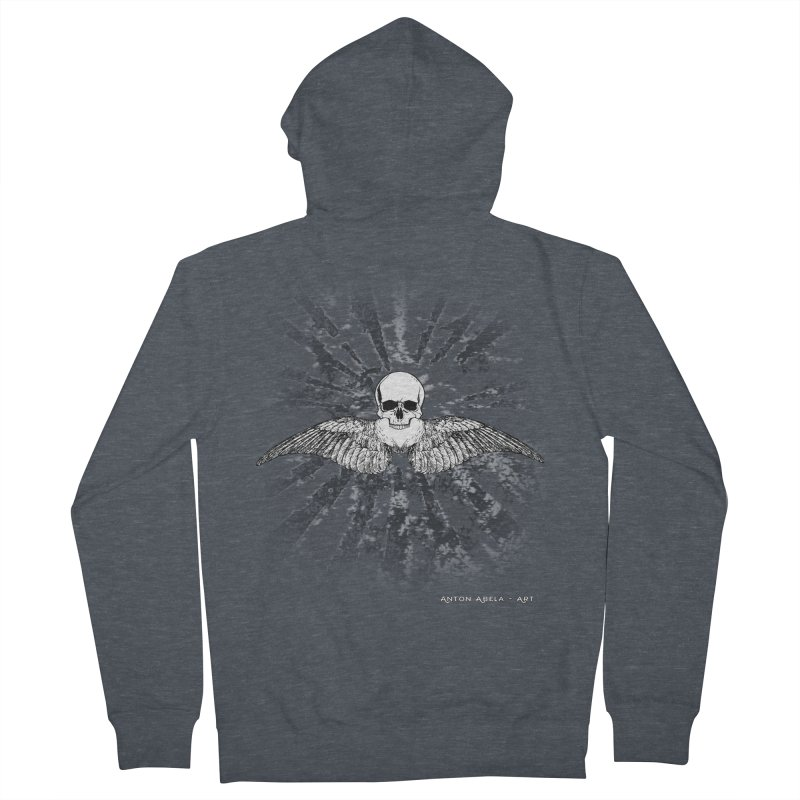 Death Seraphim Women's French Terry Zip-Up Hoody by AntonAbela-Art's Artist Shop
