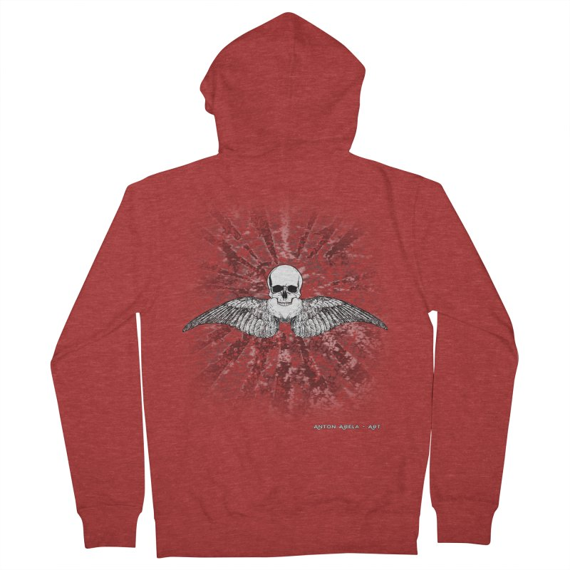 Death Seraphim Men's French Terry Zip-Up Hoody by AntonAbela-Art's Artist Shop