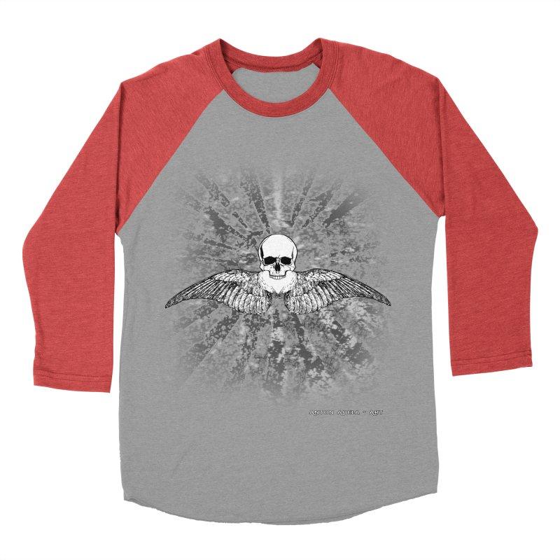 Death Seraphim Men's Baseball Triblend Longsleeve T-Shirt by AntonAbela-Art's Artist Shop