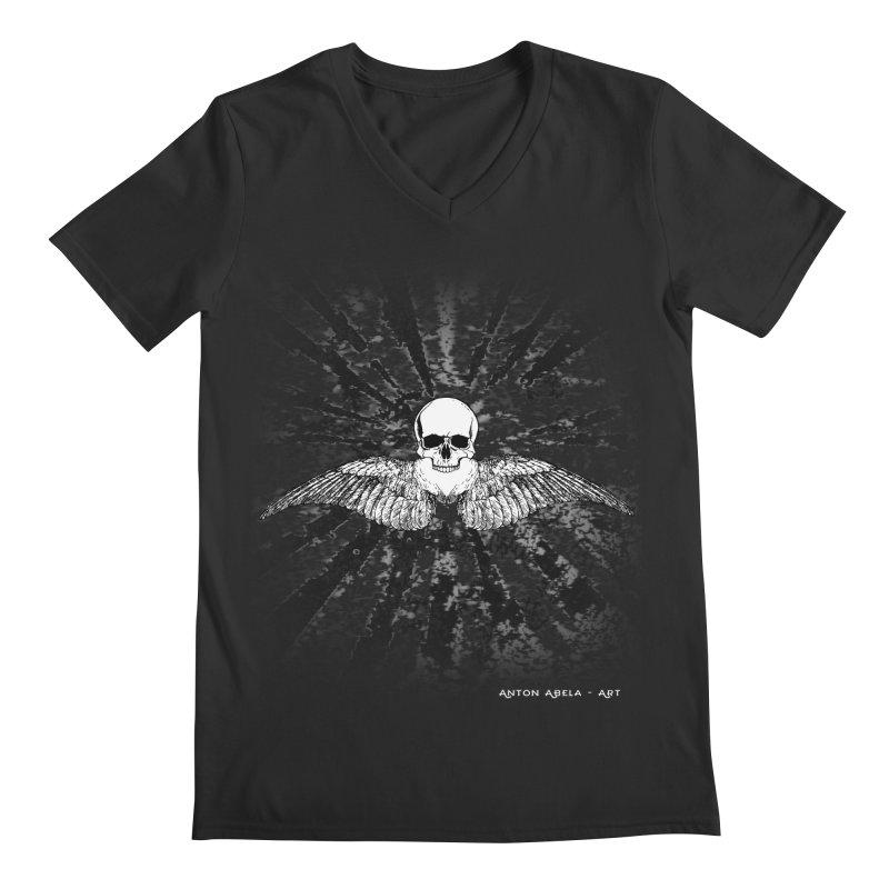 Death Seraphim Men's Regular V-Neck by AntonAbela-Art's Artist Shop