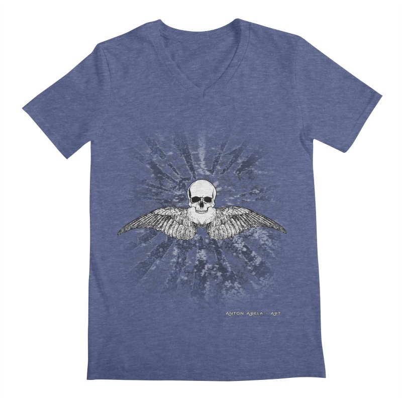 Death Seraphim Men's Regular V-Neck by AntonAbela-Art's Artist Shop