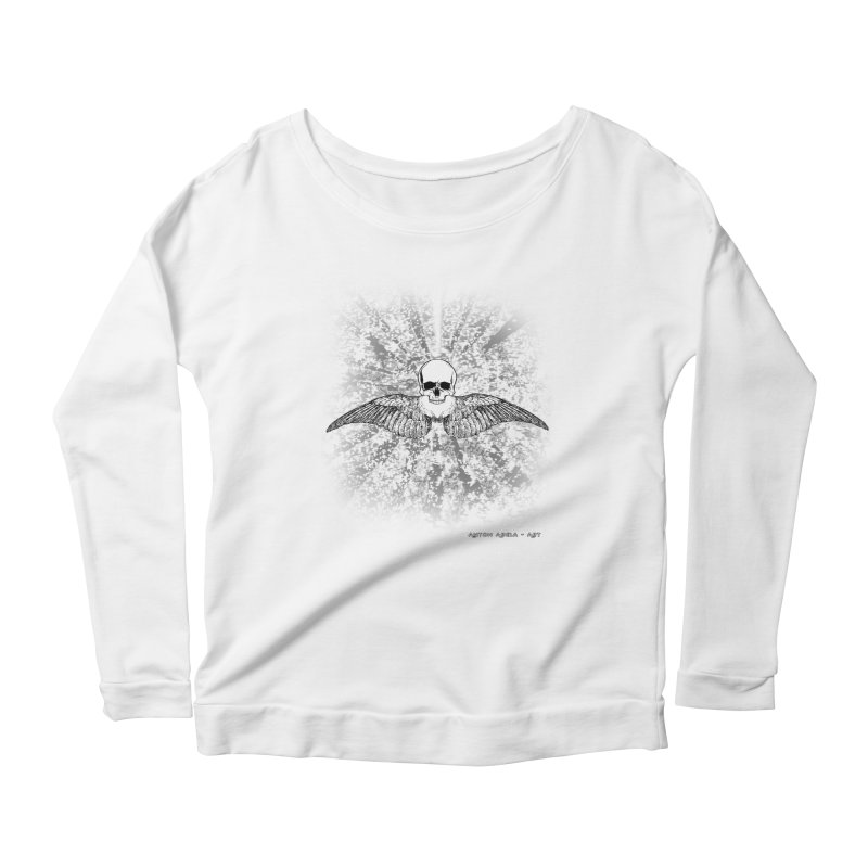 Death Seraphim Women's Scoop Neck Longsleeve T-Shirt by AntonAbela-Art's Artist Shop