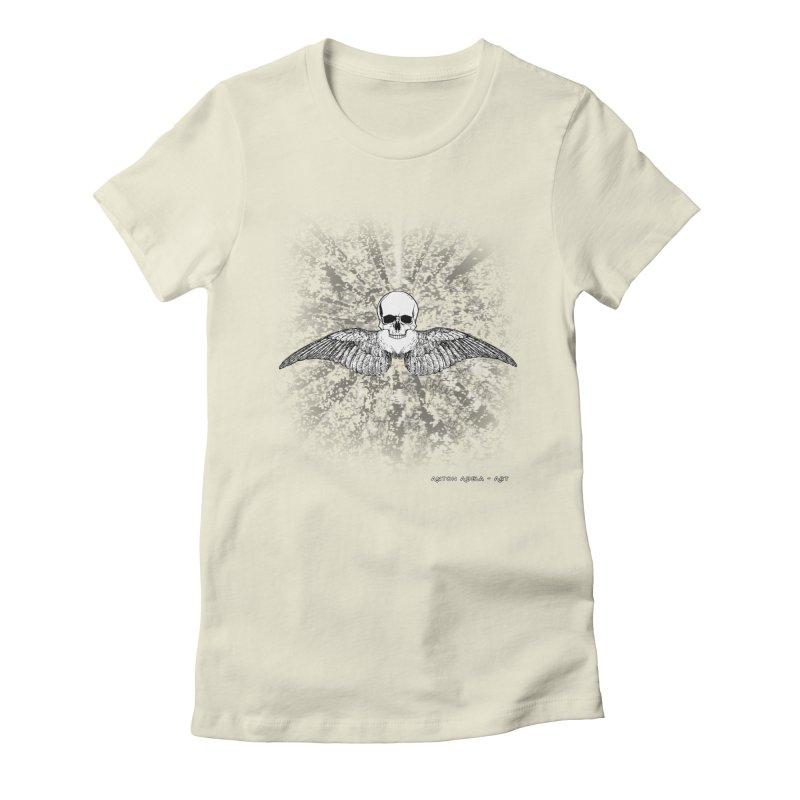 Death Seraphim Women's Fitted T-Shirt by AntonAbela-Art's Artist Shop