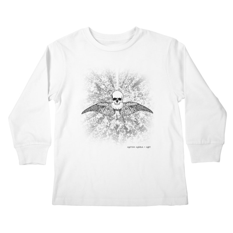 Death Seraphim Kids Longsleeve T-Shirt by AntonAbela-Art's Artist Shop