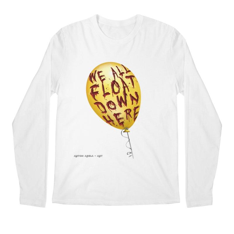 We All Float Down Here!  Men's Regular Longsleeve T-Shirt by AntonAbela-Art's Artist Shop