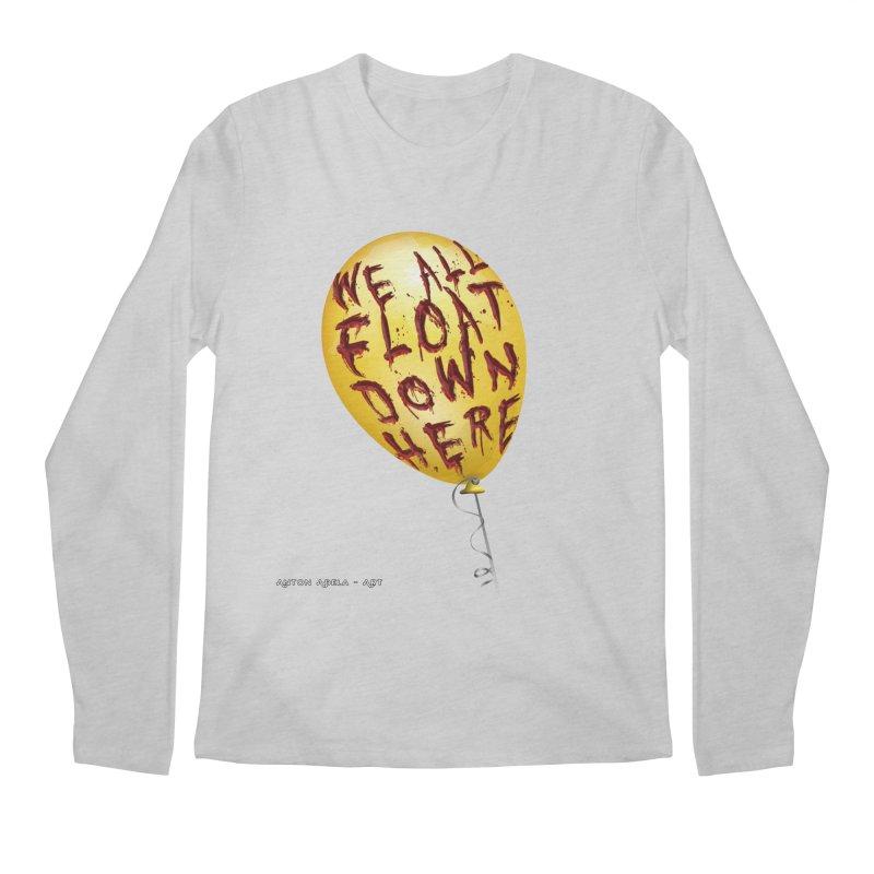 We All Float Down Here!  Men's Longsleeve T-Shirt by AntonAbela-Art's Artist Shop