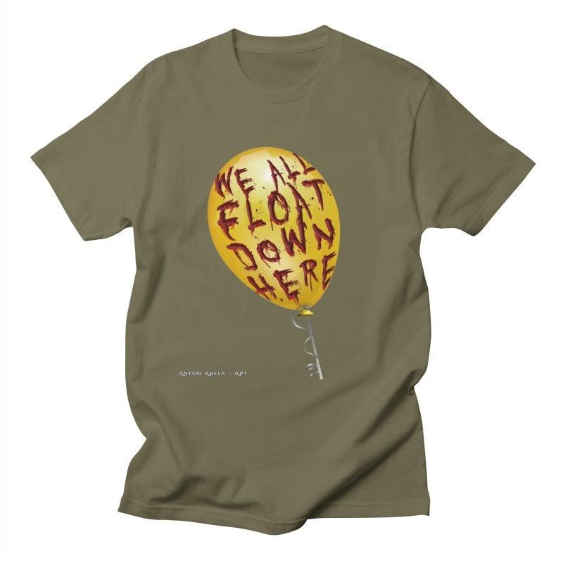 We All Float Down Here!  Men's Regular T-Shirt by AntonAbela-Art's Artist Shop