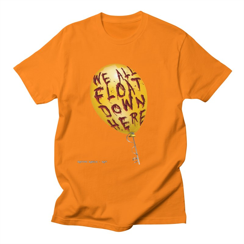 We All Float Down Here!  Men's Regular T-Shirt by AntonAbela-Art's Artist Shop